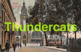 CPA  CREFELD PARTIE AM HAUPTBAHNHOF BAHNHOF TRAM - Krefeld