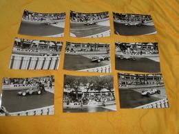 LOT DE 17 PHOTOS ANCIENNES COURSE AUTOMOBILE A IDENTIFIER. ANOTATION AU DOS TRINTIGNANT, HILL PHIL, GRAHAM HILL, BONNIER - Car Racing - F1