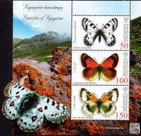 Kyrgyzstan - Express Post - 2018 - Butterflies Of Kyrgyzstan - Mint Souvenir Sheet - Kirgizië