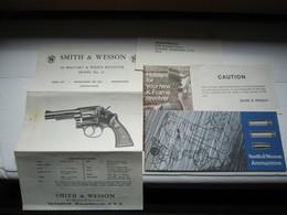 Lot Documents Anciens Notice Revolver Smith Wesson - Vieux Papiers