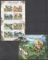 A706 2012 MOCAMBIQUE FAUNA ANIMAIS UNGULADOS EM VIAS DE EXTINCAO 1SH+1BL MNH - Briefmarken