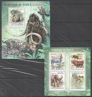 A711 2012 MOCAMBIQUE FAUNA ANIMALS MAMIFEROS DE AFRICA EXTINTOS 1KB+1BL MNH - Briefmarken