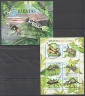 A722 2012 MOCAMBIQUE FAUNA INSECTS BARATAS EM VIAS DE EXTINCAO 1SH+1BL MNH - Insekten