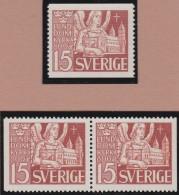 Sweden    .      Facit   .     365/367  +   BB  ( 2 Scans )      .       **   .    MNH    .   /   .  Postfris - Zweden