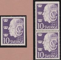 Sweden    .      Facit   .     376/378   +   BB    ( 2 Scans )   .       **   .    MNH    .   /   .  Postfris - Zweden