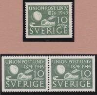 Sweden    .      Facit   .    390/392  +  BB  ( 2 Scans )       .       **   .    MNH    .   /   .  Postfris - Zweden