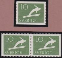 Sweden    .      Facit   .    445/448  +  BB   ( 2 Scans )       .       **   .    MNH    .   /   .  Postfris - Zweden