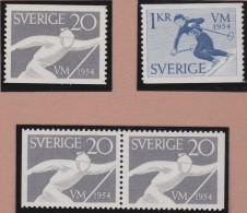Sweden    .      Facit   .    454/455   +  BB   ( 2 Scans )          .       **   .    MNH    .   /   .  Postfris - Zweden