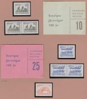 Sweden    .      Facit   .    483/485  +  BB  +  Booklets  ( 2 Scans )      .       **   .    MNH    .   /   .  Postfris - Zweden