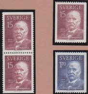 Sweden    .      Facit   .   507/508    +  BB        .       **   .    MNH    .   /   .  Postfris - Zweden