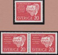 Sweden    .      Facit   .   529/531  +  BB  ( 2 Scans )       .       **   .    MNH    .   /   .  Postfris - Zweden