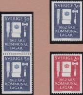 Sweden    .      Facit   .   534/535  +  BB          .       **   .    MNH    .   /   .  Postfris - Zweden