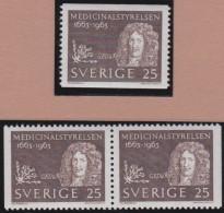 Sweden    .      Facit   .   548/550   +  BB  ( 2 Scans )          .       **   .    MNH    .   /   .  Postfris - Zweden
