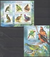 A729 2012 MOCAMBIQUE FAUNA BIRDS PASSAROS EXTINTOS 1SH+1BL MNH - Vögel