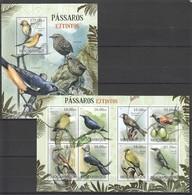 A730 2012 MOCAMBIQUE FAUNA PASSAROS EXTINTOS BIRDS 1BL+1SH MNH - Vögel