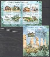 A731 2012 MOCAMBIQUE FAUNA ANIMALS ANIMAIS DA OCEANIA EXTINTOS 1SH+1BL MNH - Briefmarken