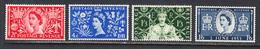 Great Britain 1953 Coronation, Mint Mounted, Sc# 313-316, SG 532-535 - Ungebraucht