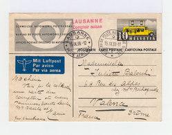 Carte Postale Entier Postal Par Avion. Oblitération Bureau De Automobile Suisse. (639) - Entiers Postaux