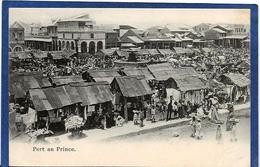 CPA Haïti Port Au Prince Non Circulé Shop Métier Market - Postcards