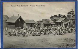 CPA Haïti Port Au Prince Non Circulé Marchand Métier Market - Postcards