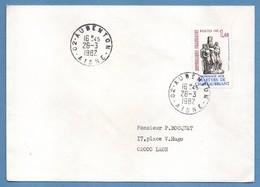 Lettre Aubenton ( Aisne 02 ) Type 09 1982 /N° 2177  Seul - Marcophilie (Lettres)