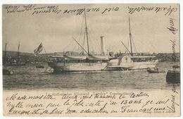 """Le Stationnaire Allemand """" Loreley """" Constantinople Paddle Boat Bateau Aube  Fruchtermann 1033 Levant Mouchon - Türkei"""