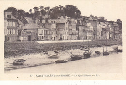 ST.VALERY SUR SOMME : LE QUAI BLAVET A MAREE BASSE.BATEAUX.N.CIRCULEE.T.T.B.ETAT.PETIT PRIX.COMPAREZ!!! - Saint Valery Sur Somme