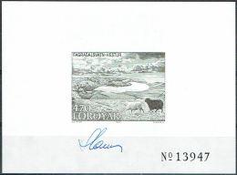 Czeslaw Slania.Faroe Islands 1987. Michel 157, BLACKPRINT,  MNH.  Signed. - Féroé (Iles)