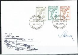 Czeslaw Slania.Faroe Islands 1975.  Stamps. Michel  7-17  FDC.  Signed. - Féroé (Iles)
