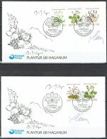 Czeslaw Slania.Faroe Islands 1980.  Flora.. Michel  48-52  FDC.  Signed - Féroé (Iles)