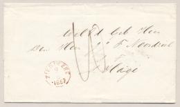Nederland - 1867 - Ongefrankeerde Omslag Van ZIERIKZEE Naar 's Gravenhage - Paesi Bassi