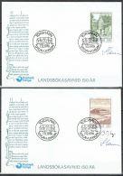 Czeslaw Slania. Faroe Islands 1978. 150 Anniv National Library.   Michel 39-40, FDC.  Signed. - Féroé (Iles)