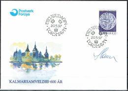 Czeslaw Slania. Faroe Islands 1997. 600 Anniv Kalmar Union.   Michel 319. FDC  Signed. - Féroé (Iles)