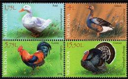 Moldova - 2018 - Domestic Birds - Poultry - Mint Stamp Set - Moldavië