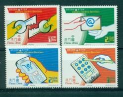 MACAO CHINE 1053/56 Internet & Commerce électronique - 1999-... Région Administrative Chinoise