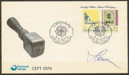 Czeslaw Slania. Faroe Islands 1979. CEPT.  Michel 43-44  FDC.  Signed. - Féroé (Iles)