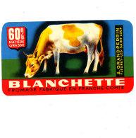 S 802 -  ETIQUETTE DE FROMAGE-  BLANCHETTE   GRANDPERRIN  FLEUREY LES SAINT LOUP FAB. EN FRANCHE COMTE - Formaggio
