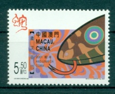 MACAO CHINE 1036 Nouvel An, Année Du Serpent - 1999-... Chinese Admnistrative Region