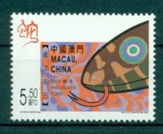 MACAO CHINE 1036 Nouvel An, Année Du Serpent - 1999-... Région Administrative Chinoise