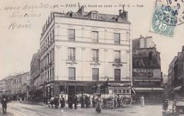 75. PARIS. CPA. LA PLACE DE PASSY. . ANNÉE 1904. ANIMATION. OMNIBUS - Paris (16)