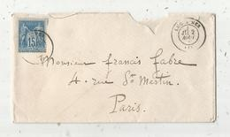 Lettre, LUC S MER , Timbre 15c , 2 Scans - Storia Postale