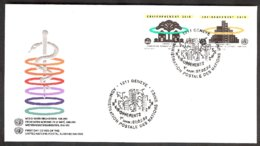 Nations Unies  Genève -yv 247/8  OMS, Environnement Sain   F.D.C. 1993 - Pollution