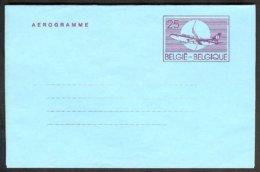Belgique  1990 Aérogramme 25 Francs Français Neuf - Stamped Stationery