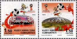 Northern Cyprus - 2018 - FIFA World Football Cup In Russia - Mint Stamp Set - Cyprus (Turkije)
