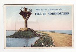 85  ILE DE NOIRMOUTIER   Carte à Système Avec Dépliant 10 Vues - Ile De Noirmoutier