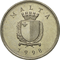 Monnaie, Malte, 10 Cents, 1998, British Royal Mint, SUP, Copper-nickel, KM:96 - Malte