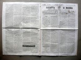 Un Modenese Che Oggi Compie 100 Anni Gazzetta Di Modena Anno III 20/1/1862 - Libri, Riviste, Fumetti
