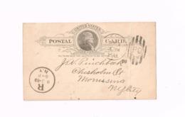 Entier Postal à 1 Cent. Expédié De New-York à New-York. (Plié) - ...-1900