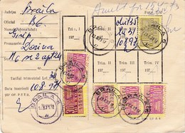 Romania, 1971-1973, Radio Subscription Card & Receipt - Revenue Fiscal Stamps Cinderellas - Historische Dokumente