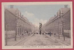 62 - CALONNE-LIEVIN----La Rue Viala--cpsm Pf Colorisée - Autres Communes